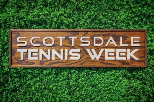 Hand Crafted Sign Created for Scottsdale Tennis Week